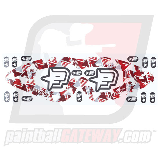 Planet Eclipse Empire Goggle Lens Sticker - Waveform Red - (#CL11-07)