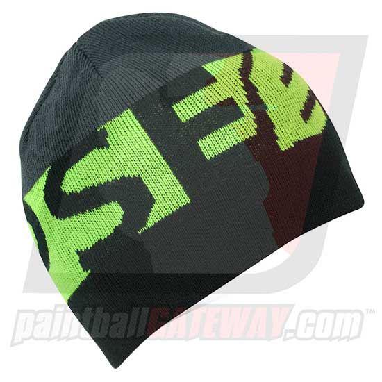 Planet Eclipse Beanie - Divide Black/Green - (#Q23)