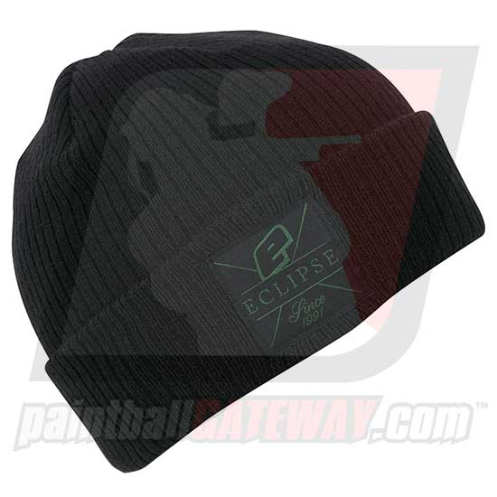 Planet Eclipse Beanie - Flux Roll Up Black/Green - (#Q23)