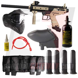 Tippmann Cronus Basic Paintball Gun Advanced Package - Black/Tan