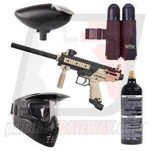 Tippmann Cronus Basic Paintball Gun Starter Package - Black/Tan