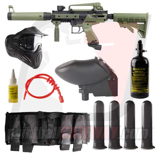 Tippmann Cronus Tactical Paintball Gun Advanced Package - Black/Olive
