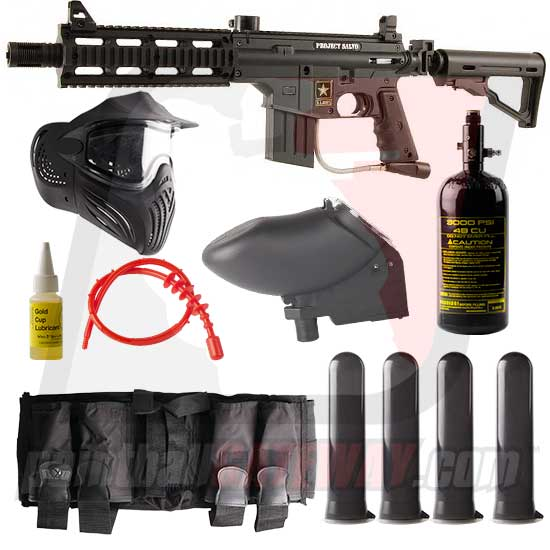 Tippmann US Army Project Salvo Paintball Gun Advanced Package - Black