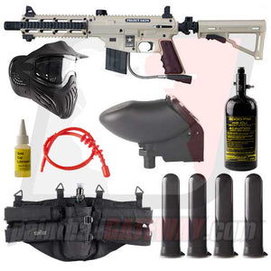 Tippmann US Army SIERRA ONE/Project Salvo Paintball Gun Advanced Package - Tan