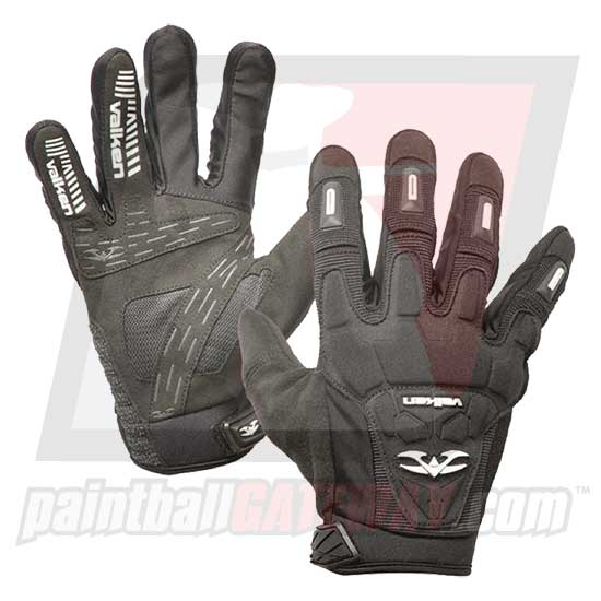 Valken Impact Full Finger Gloves - Black
