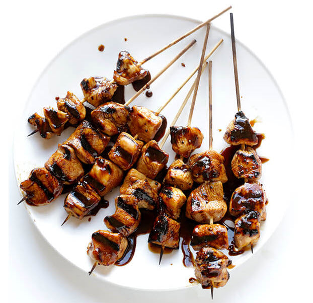 Simple Balsamic Chicken Skewers