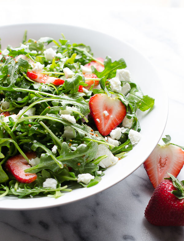 Arugula Salad with Strawberry Balsamic