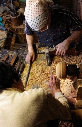 Woodwork Master Yoshio Nishihata of Wajima Japan Photo Copyright by Kogei Styling