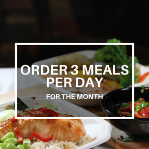3 Meals Per Day (Monthly Plan)