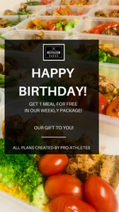 BIRTHDAY PLAN - 10 Meals Per Week (Weekly)