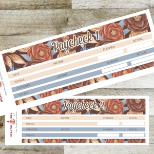 Paycheck Budget Stickers - September - Erin Condren Planner Monthly Kit 2020 2021 - Healthy Wealthy Skinny