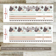 Load image into Gallery viewer, Paycheck Budget Stickers - Mint Pumpkins - Erin Condren Planner Monthly Kit 2020 2021
