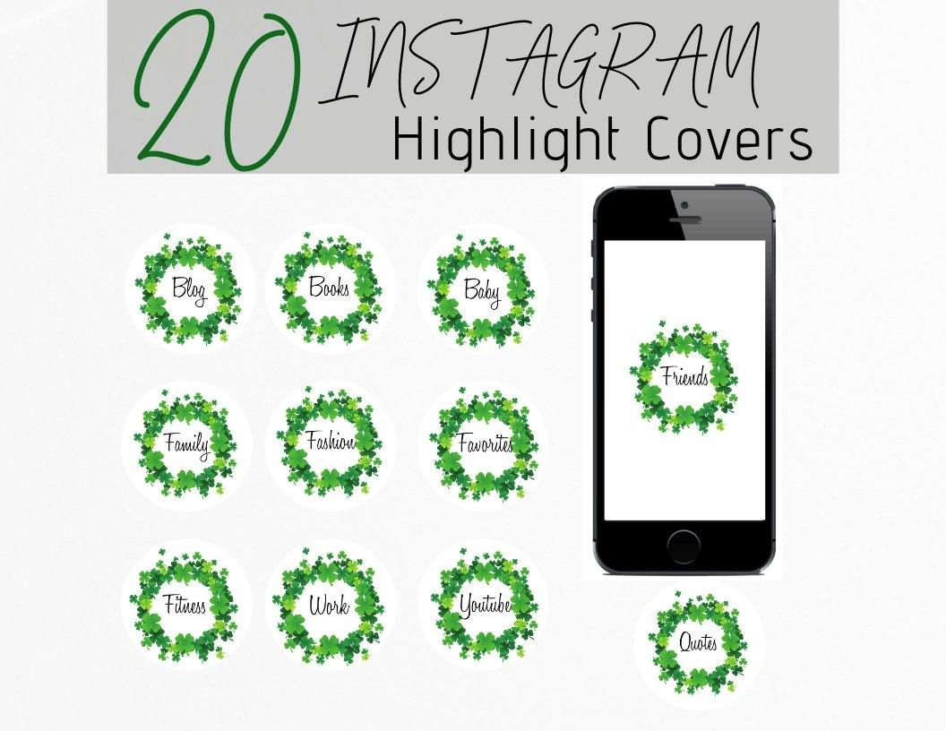 St. Patrick's Icon Instagram Story Highlight Covers