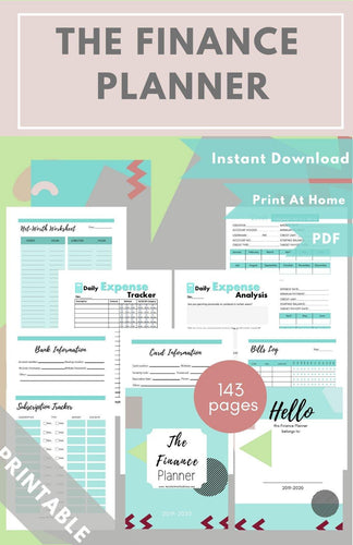 The Finance Planner Teal PDF - Healthy Wealthy Skinny
