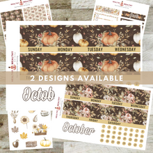 "Load image into Gallery viewer, Fall Monthly Planner Sticker Kit - Orange Pumpkins - Erin Condren Planner Monthly Kit - 8.5"" x 11"""