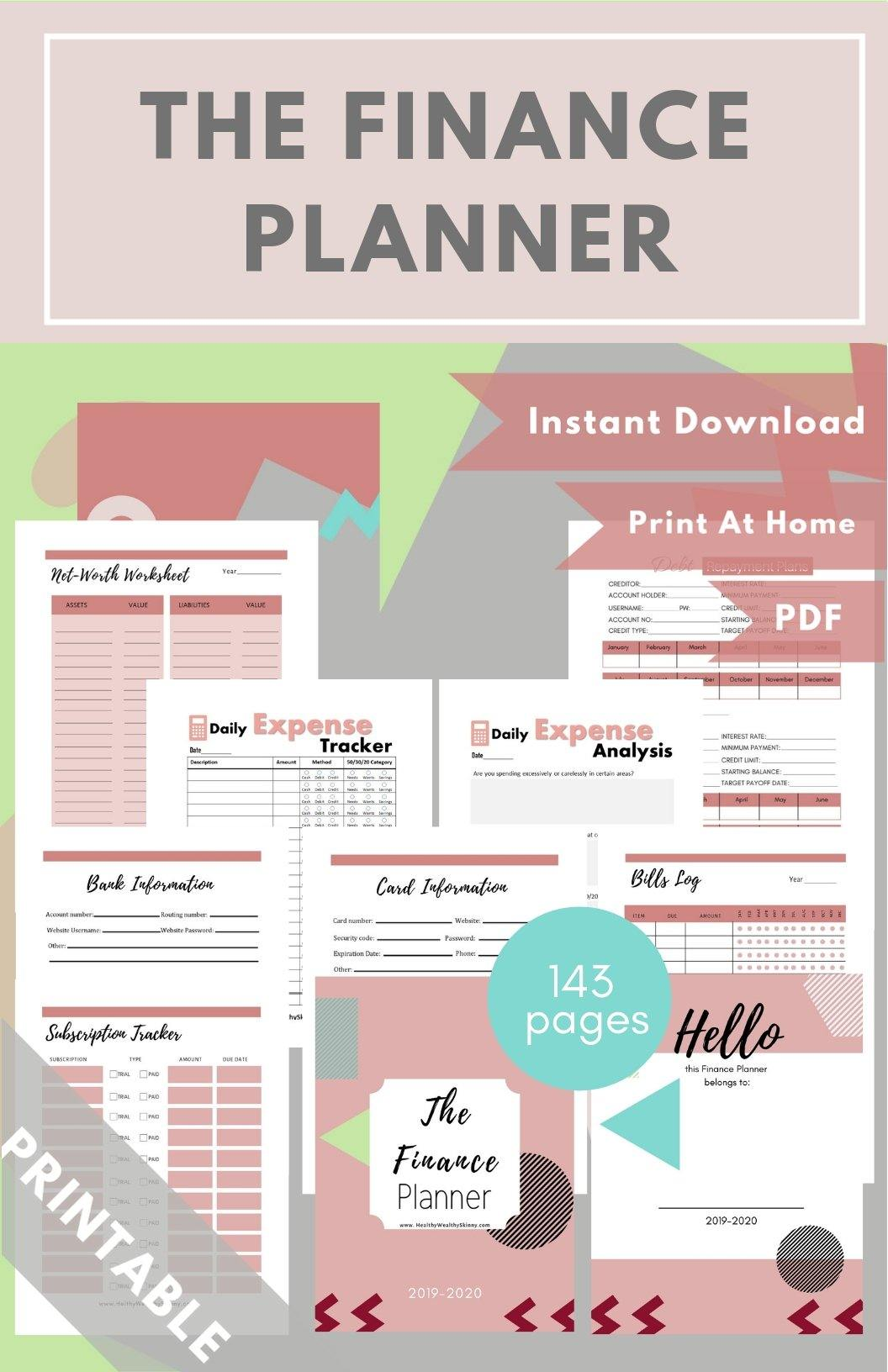 The Finance Planner Pink PDF