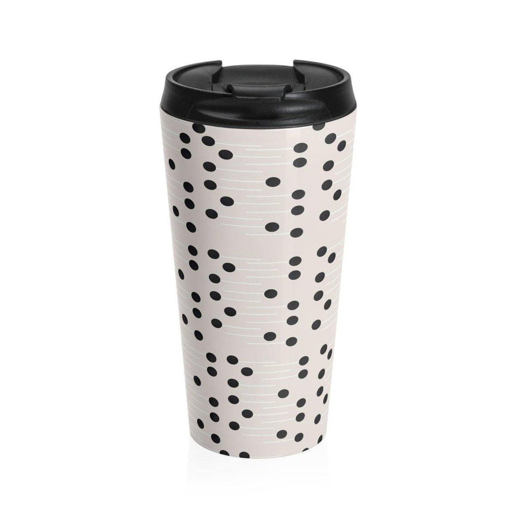 HWS Polka Stainless Steel Travel Mug