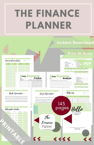 The Finance Planner Green PDF - Healthy Wealthy Skinny