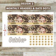 "Load image into Gallery viewer, Fall Monthly Planner Sticker Kit - Orange Pumpkins - Erin Condren Planner Monthly Kit - 8.5"" x 11"" - Healthy Wealthy Skinny"