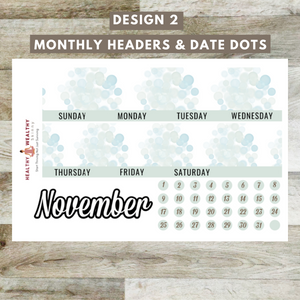 "November Monthly Planner Stickers Kit - Erin Condren Planner Monthly Kit - 8.5"" x 11"""
