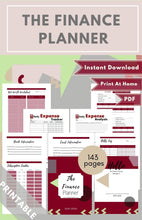 Load image into Gallery viewer, The Finance Planner Burgundy PDF