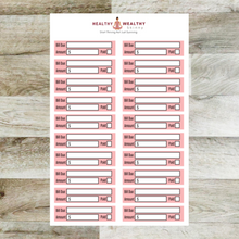 Load image into Gallery viewer, Bill Due Stickers - Erin Condren Monthly Planner - Monthly View Kit Planner Stickers - Various Colors - REMOVABLE - Healthy Wealthy Skinny