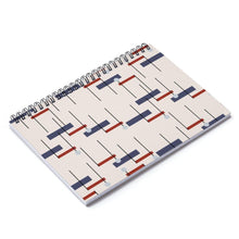 Load image into Gallery viewer, HWS Minimalista Azul Roja Spiral Notebook - Ruled Line