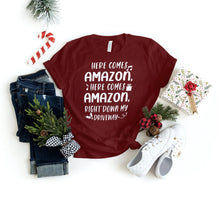 Load image into Gallery viewer, Here Comes Amazon - Family Christmas Shirts - Holiday Shirts - Gifts