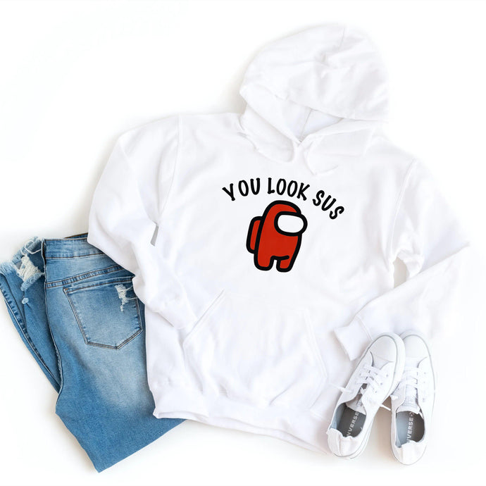 Among Us - You Look Sus - Hoodie - Healthy Wealthy Skinny