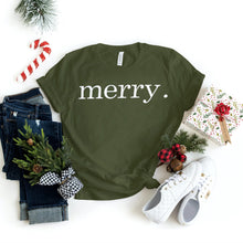 Load image into Gallery viewer, Christmas Shirts - Merry - Xmas tshirt - Holiday Shirts - Gifts - Healthy Wealthy Skinny