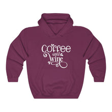 Load image into Gallery viewer, Coffee Until Wine Hoodie - Unisex Heavy Blend™ Hooded Sweatshirt
