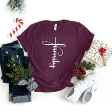 Load image into Gallery viewer, Family Shirt - Family Cross - Holiday Family Shirts - Group Shirts - Gifts - Healthy Wealthy Skinny