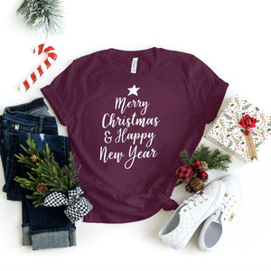 Christmas Shirts - Merry Christmas & Happy New Year - Holiday Shirts - Gifts