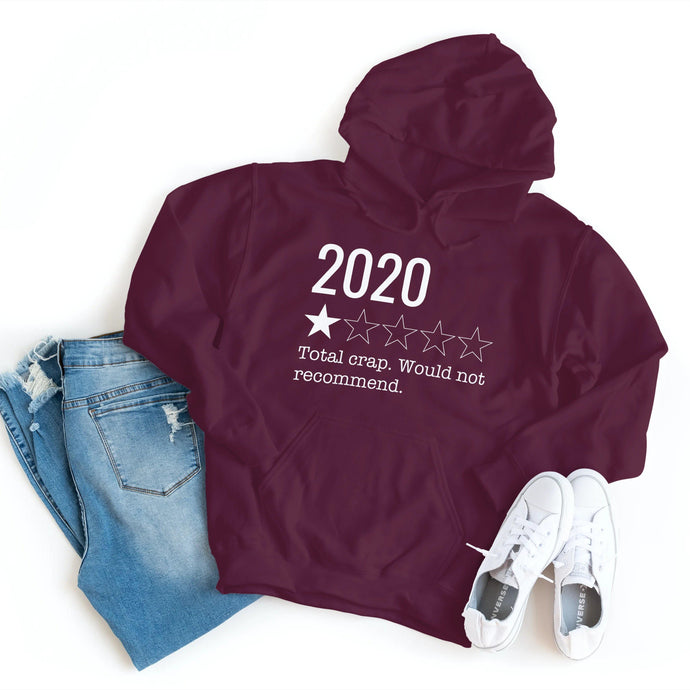 2020 Total Crap Would Not Recommend - Hoodie - Healthy Wealthy Skinny