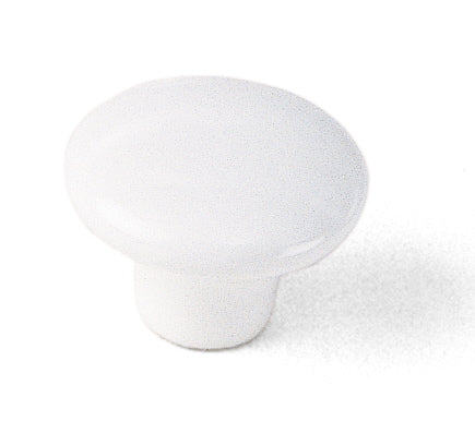 01742 White Knob, Porcelain Collection - Laurey