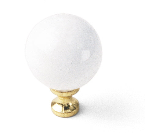 01942 White Ball Knob, Porcelain Collection - Laurey