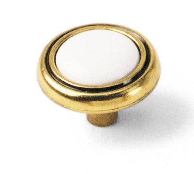Two Tone Button Knob, First Family Collection - Laurey