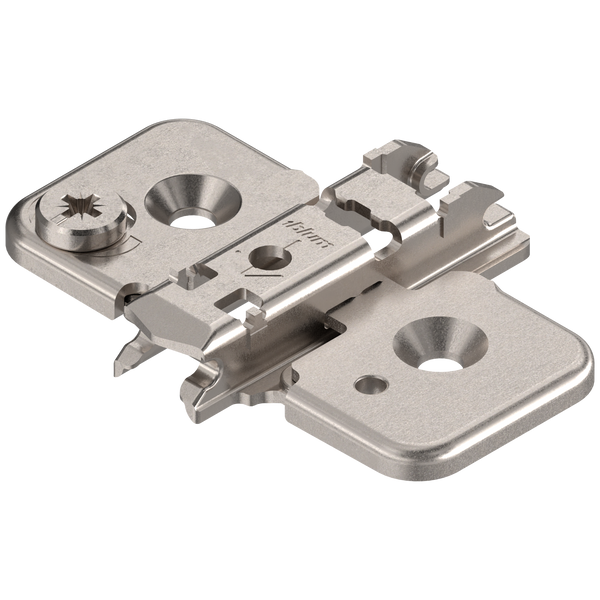 0 mm Cam Adjustable Screw-On European Mounting Plate - Blum