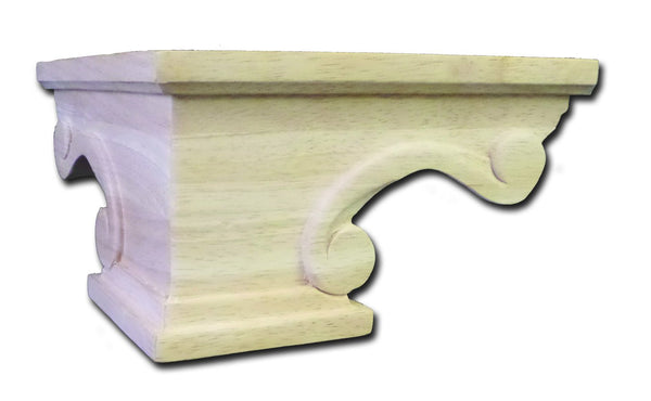 Castlewood SY-PF-151 Scroll Pedestal Foot Corner