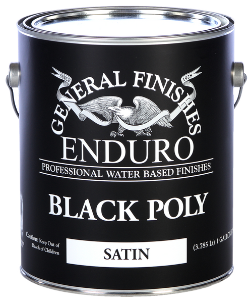 General Finishes Black Water Based Poly Top Coat
