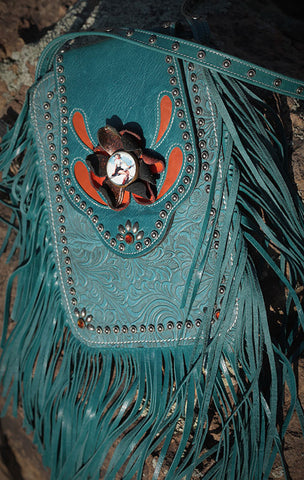 Crazy Horse Bag - Aqua/Orange