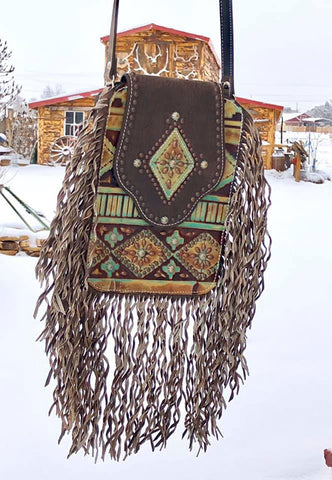 Crazy Horse Bag - Southwest Curly Fringe