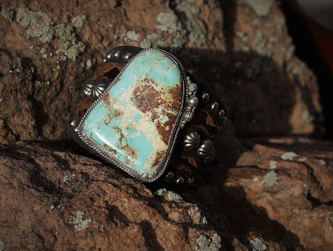 Old Natural Turquoise Cuff