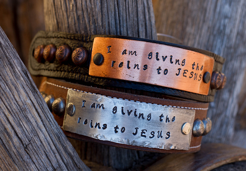 Giving the reins to Jesus Scripture Bracelet