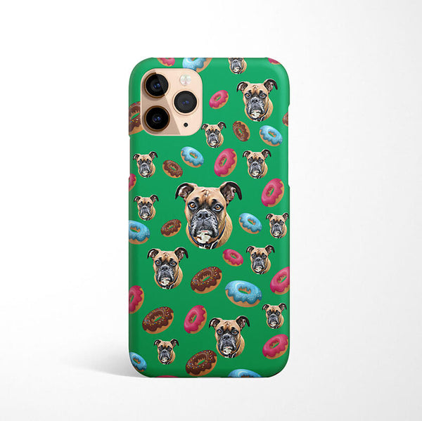 Custom Phone Case Dog and Donuts
