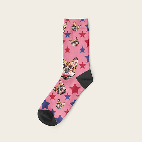 Custom Dog Socks Stars
