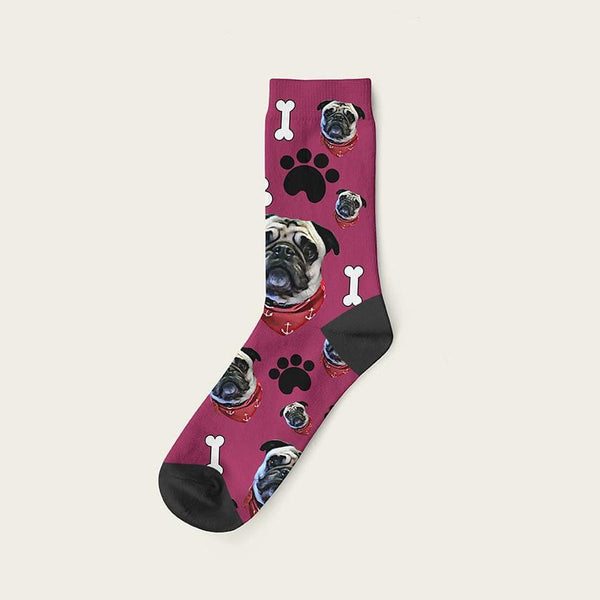 Custom Dog Socks Paws And Bones