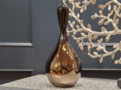 Bronze Mirrored Zero Gravity Drop 2 Vase