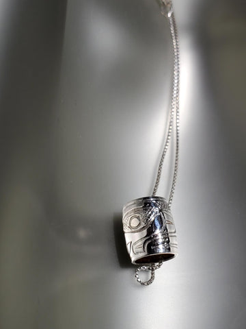 Sterling Silver 'Hawk' Small Spirit Bead Necklace