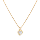 Coeur - Gold Plate & Gold Fill Chain Moonstone Necklace